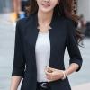 (พร้อมส่ง size 2XL)เสื้อสูทแฟชั่น เสื้อสูทสำหรับผู้หญิง พร้อมส่ง สีดำ คอวี แต่งเว้าช่วงคอเสื้อ คัตติ้งสวย งานเนี๊ยบ
