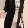 เสื้อคลุมแฟชั่น เสื้อคลุมกันหนาว พร้อมส่ง สีดำ ผ้าไหมพรม เนื้อนิ่ม มีความยืดหยุ่นได้ดี ตัวยาวคลุมสะโพก แขนยาว ใส่กับชุดทำงานหรือชุดเที่ยวก็เก๋ๆค่ะ