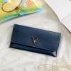 กระเป๋าสตางค์ผู้หญิง Leather 001 สีน้ำเงิน