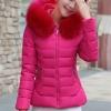 เสื้อโค้ทแฟชั่น พร้อมส่ง สีชมพูบานเย็น สีสดใส ผ้าร่ม กันลมหนาวได้ดีเลยค่ะ แต่งผ้าขนสัตว์ติดฮูทน่ารัก
