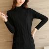 เสื้อกันหนาวไหมพรม พร้อมส่ง สีดำ คอเต่า แต่งลูกโซ่เส้นใหญ่น่ารัก ด้านหลังเรียบๆ แขนยาวตีลายเส้นสวย ใส่กันหนาวได้ค่ะ