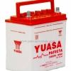 """แบตเตอรี่รถยนต์ """"YUASA"""" ขนาด 35 แอมป์ 12 โวลท์ (Battery """"YUASA"""" 35 a. 12 V.)"""
