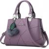 กระเป๋าสะพายข้างผู้หญิง Leather west (Violet) แถมพู่ขนๆ