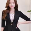 เสื้อสูทแฟชั่น เสื้อสูทสำหรับผู้หญิง พร้อมส่ง สีดำ ผ้าคอตตอน 100 % เนื้อดี