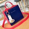 กระเป๋าสะพายข้างผู้หญิง Girl face สีแดงน้ำเงิน