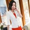 (พร้อมส่ง 2XL)เสื้อสูทแฟชั่น เสื้อสูทสำหรับผู้หญิง พร้อมส่ง สีขาว คอปก แขนพับสามส่วน หัวไหล่ยกนิดๆ ไม่มีซับในระบายอากาศได้ค่ะ