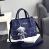กระเป๋าสะพายข้างผู้หญิง Girl the grid Blue แถมหมี!!