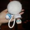 พวงกุญแจ ขนฟู รุ่น Baby doll สีขาว