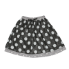Double Layers White Dots Skirt