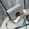 กระเป๋าสะพายข้าง squre curcle สีเทา สำเนา