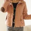 เสื้อกันหนาว พร้อมส่ง สีชมพู กระดุมหน้า รูดซิบ มีฮูท ลายจุด ด้านในบุด้วยผ้าขนนุ่มๆ อุ่นแน่นอนค่ะ