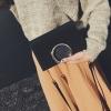 กระเป๋าสะพายข้าง squre curcle (Black)