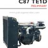 """เครื่องยนต์ดีเซล Diesel Engine """"IVECO"""" 6 สูบ Cylinder # Cusor C87TE1D ขนาด prime 310 HP @ 1500 RPM."""