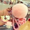 พวงกุญแจ ขนฟู รุ่น Kiss 01 สีชมพู