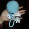 พวงกุญแจ ขนฟู รุ่น Baby doll สีฟ้า 01