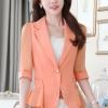 เสื้อสูทแฟชั่น เสื้อสูทสำหรับผู้หญิง พร้อมส่ง สีส้ม ผ้าคอตตอน 100 % เนื้อดี