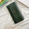 กระเป๋าสตางค์ผู้หญิง Leather 001 สีเขียวเข้ม