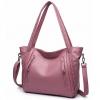 กระเป๋าสะพายข้างใบใหญ่ Two way leather pink