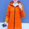 เสื้อกันหนาว พร้อมส่ง สีส้ม ผ้าฟลีซ ใส่สบาย แบบเรียบเก๋ ซิบรูดใช้งานได้สะดวก