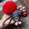 พวงกุญแจ ขนฟู รุ่น Baby doll สีแดง