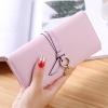 กระเป๋าสตางค์ผู้หญิง Ribbon Cute สีชมพู