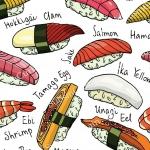 วอลเปเปอร์ลายร้านอาหารญี่ปุ่น #9