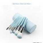 แปรงแต่งหน้า Baboo Charcoal Fiber สีฟ้า