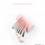 แปรงแต่งหน้า Baboo Charcoal Fiber สีชมพู