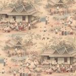 47-123 ART OF WALL วอลเปเปอร์ลายไทย
