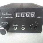 เครื่องส่ง FM 87.5-108 MHz กำลังส่ง 5 วัตต์ พร้อมอุปกรณ์ ตัวเครื่องมีตำหนิ