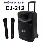 Worldtech เครื่องเสียงล้อลาก BT SUB12cm 12นิ้ว - DJ212
