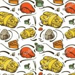 วอลเปเปอร์ลายร้านอาหารญี่ปุ่น #12