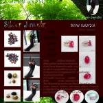 Ruby Gems Stone & Silver 92.5% (GIFT Thai Souvenirs)