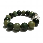 Jade Burmese Bracelet 92.5% Ganesha