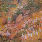 129 ART OF WALL วอลเปเปอร์ลายไทย