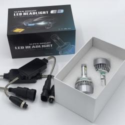 หลอดไฟหน้า LED สำหรับรถยนต์ NAO-E3 ความสว่าง 9000Lumen
