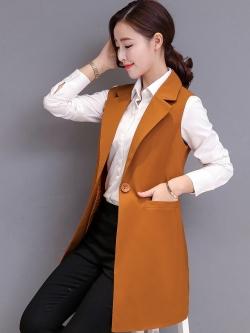 เสื้อกั๊กสูทแฟชั่น เสื้อกั๊กแฟชั่น เสื้อส้มอิฐ เสื้อสูทแขนกุด พร้อมส่ง สีส้มอิฐ เนื้อผ้า Polyester งานสวย คุณภาพดี มีซับใน ใส่สบาย