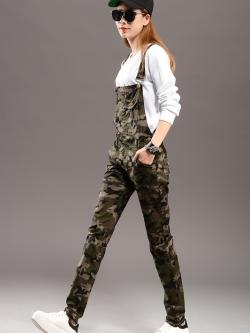 ชุดเอี๊ยมแฟชั่น พร้อมส่ง สีเขียวขี้ม้า ลายทหาร เอี๊ยมยีนส์กางเกงขายาว เอวต่ำ แฟชั่นมาใหม่สไตล์เด็กแนว เนื้อผ้ายีนส์ฟอกลายสวย