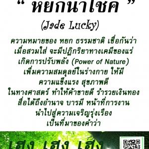 หยกนำโชค( JADE LUCKY )