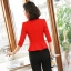 เสื้อสูทแฟชั่น เสื้อสูทสำหรับผู้หญิง พร้อมส่ง สีเหลือง คอปก แขนพับสามส่วน หัวไหล่ยกนิดๆ ไม่มีซับในระบายอากาศได้ค่ะ thumbnail 5