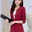 เสื้อสูทแฟชั่น พร้อมส่ง สีแดง แขนยาว คอจีน ตัวยาวคลุมสะโพก ติดกระดุมเม็ดเดียวเก๋ เหมาะสำหรับใส่ทำงานได้ thumbnail 1