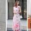 (สินค้ามีตำนิ ตรงช่วงคอเสื้อนิดหน่อยค่ะ) MAXI DRESS ชุดเดรสยาว พร้อมส่ง สีโทนชมพู ผ้าชีฟองพิมพ์ลายเก๋ เนื้อดี ใส่สบาย thumbnail 8