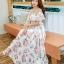 MAXI DRESS ชุดเดรสยาว พร้อมส่ง สีขาว ลายดอกกุหลาบหวาน น่ารักมากๆค่ะ เนื้อผ้าชีฟอง อย่างดี thumbnail 1