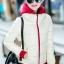 เสื้อกันหนาว พร้อมส่ง สีขาว ผ้าร่ม กันลมหนาวได้ดีเลยค่ะ อุ่นมากๆ แบบซิบรูด มีฮูทสุดเท่ห์ งานสวยเหมือนแบบแน่นอนค่ะ thumbnail 1