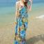 MAXI DRESS ชุดเดรสยาว พร้อมส่ง สีโทนฟ้า ผ้าชีฟอง เนื้อนิ่ม ใส่สบาย พิมพ์ลายดอกไม้สวยมากๆค่ะ มีซับใน รับรองสินค้าจริงเหมือนแบบ 100 % thumbnail 3