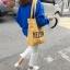 กระเป๋าผ้า LD004 White ฮิต!! thumbnail 7