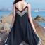MAXI DRESS ชุดเดรสยาว พร้อมส่ง สีดำ สายเดี่ยว แต่งลวดลายกราฟิกเก๋ กระโปรงยาวบานพริ้วๆ thumbnail 3