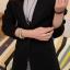 เสื้อสูททำงาน พร้อมส่ง เสื้อสูทสีดำ ตัวยาวคลุมสะโพก แขนยาว ติดกระดุมเม็ดเดียวเก๋ งานสวยเหมือนแบบแป๊ะค่ะ thumbnail 3