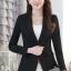 เสื้อสูทแฟชั่น พร้อมส่ง เสื้อสูท สีดำ คอปก ผ้าคอตตอน 100 % เนื้อดี คุณภาพงานพรีเมี่ยม thumbnail 2