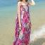 MAXI DRESS ชุดเดรสยาว พร้อมส่ง สีโทนชมพู ผ้าชีฟอง เนื้อนิ่ม ใส่สบาย thumbnail 2